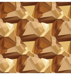 Gold seamless polygonal pattern vector