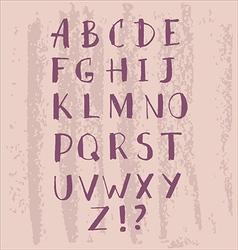 Hand drawn alfabet1 vector image