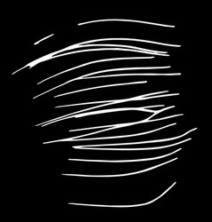 hand drawn striped pattern black and white vector image