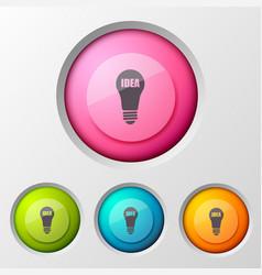 Lamp idea creative background vector