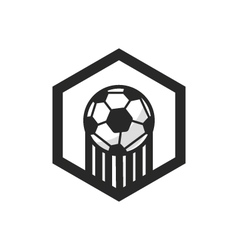 Logo and football badge vector