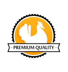 Logo of farm products premium quality vector