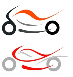 motorcycle sportbike vector image