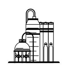 Oil refinery icon image vector