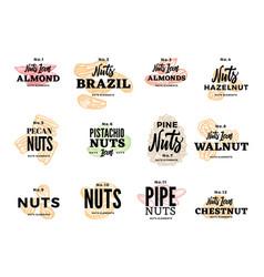 organic food logos set vector image vector image