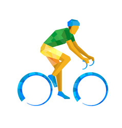 road cycling cyclist on bicycle vector image vector image