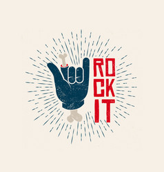 rock it logo design rockl vector image