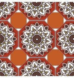 Seamless blue pattern in ethnic oriental style vector image