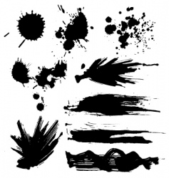 set of blots vector image vector image