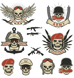 Set of special forces labels vector