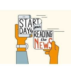 Start your day by reading the news vector
