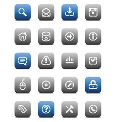 Stencil matt buttons for internet vector image vector image