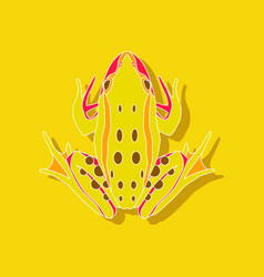 toad paper sticker on stylish background vector image