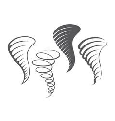 Tornado storm icons vector