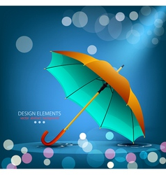 umbrella on a blue background vector image vector image