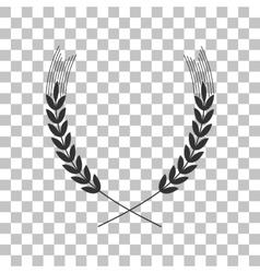 Wheat sign dark gray icon on vector
