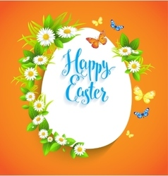 Easter bright card with flowers vector image