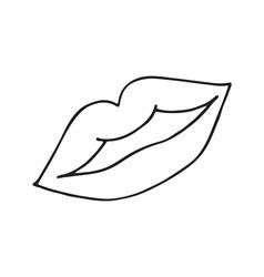 Female lips icon vector image