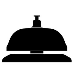Reception bell the black color icon vector