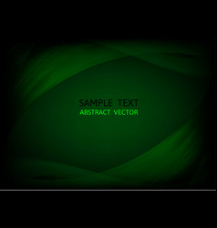 abstract dark green wave background graphic design vector image