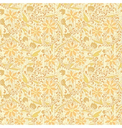 Seamless ornament floral beige neutral background vector