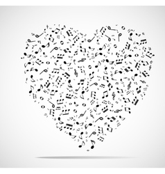 Abstract musical heart background vector