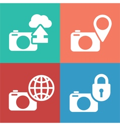 Camera digital icon set vector