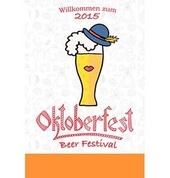hipster Oktoberfest logotype vector image