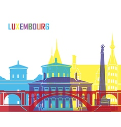Luxembourg skyline pop vector