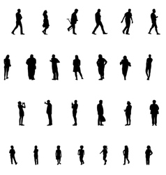 Set of people children adults seniors vector