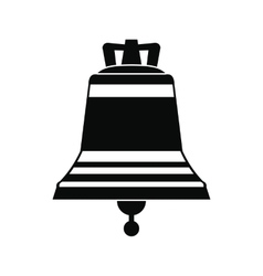 Church bell black simple icon vector