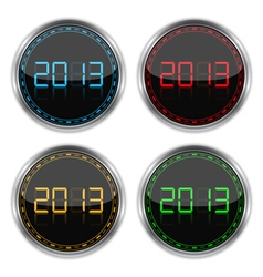 Round badges with number 2013 vector