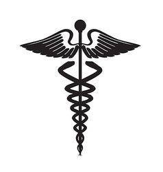 abstract black caduceus sign vector image