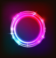 Abstract neon background with colorful circles vector image vector image