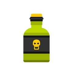 Bottle of poison icon flat style vector