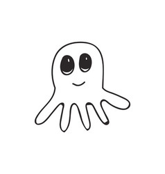 Doodle octopus animal vector