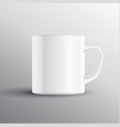 Empty cup display mockup design vector