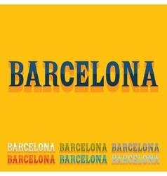 Flat design barcelona vector