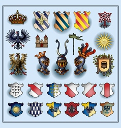 Heraldic elements vector