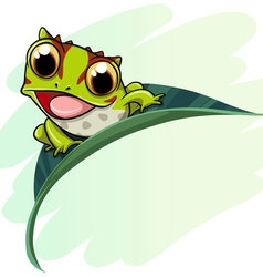 Horned frog cartoon vector