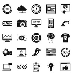 Intelligence icons set simple style vector