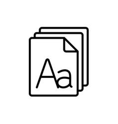 Line grammar letter file icon vector