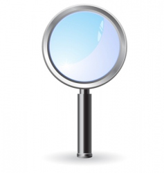 magnifier illustration vector image vector image
