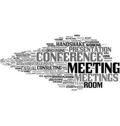 Meetings word cloud concept vector