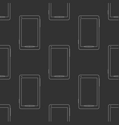 mobile phones seamless pattern vector image vector image
