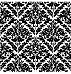 monochrome damask seamless vector image vector image