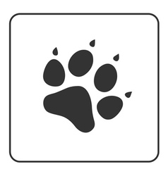 Pets paw icon vector