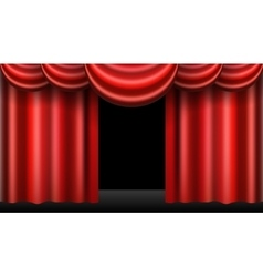 red theatre curtain realistic isolated vector image vector image