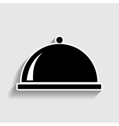 Server sign Sticker style icon vector image