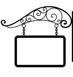 signboard and retro metal decoration vector image vector image
